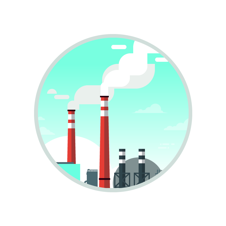 Stack Emissions Monitoring Services Icon ECL